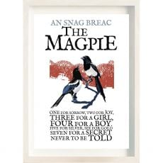 The Ireland Posters Store Birds of Ireland Magpie Frame