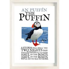 The Ireland Posters Store Birds of Ireland Puffin Frame