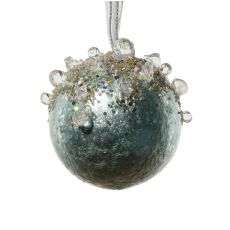 Ornate Soft Blue Jewelled Decoration