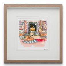 Blue Shoe Gallery Besties large Framed Art Print