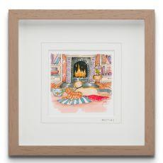 Blue Shoe Gallery Besties small Framed Art Print