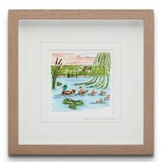 Blue Shoe Gallery Let's get Quacking small Framed Art Print