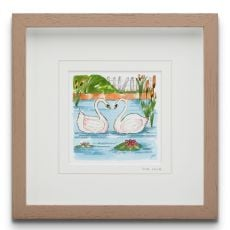 Blue Shoe Gallery One Love small Framed Art Print