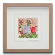 Blue Shoe Gallery Plantus Unknownicus small framed art print