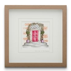 Blue Shoe Gallery Said Yes to the Address small framed art print