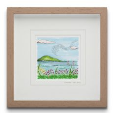 Blue Shoe Gallery Soothe the Soul small Framed Art Print