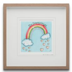 Blue Shoe Gallery The Future is Yours large Framed Art Print