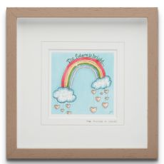 Blue Shoe Gallery The Future is Yours small Framed Art Print
