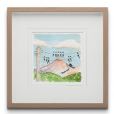 To Where will you Fly? large Framed Art Print