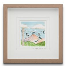 To where will you fly? small Framed Art Print
