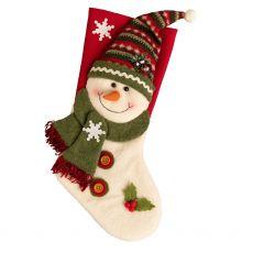 Bobble Hat Snowman Stocking