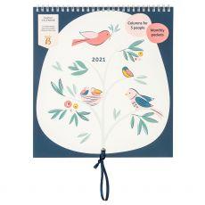 Busy B Birds Family Calendar 2021