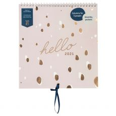 Busy B Lilac Spot Hello Family Calendar 2021