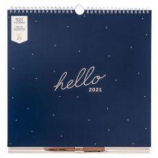Busy B Navy Weekly Family Calendar 2021
