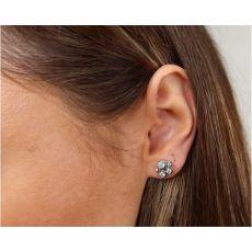 Cabochon & Co Celestial Silver Stud Earrings