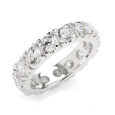 Cabochon & Co Olivia Silver Eternity Ring