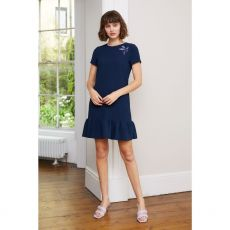 Caroline Kilkenny Dora Navy Peplum Dress