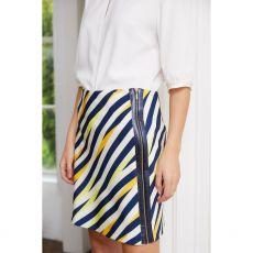 Caroline Kilkenny Kata Navy Stripe Skirt