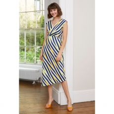 Caroline Kilkenny Lolly Navy Stripe Dress