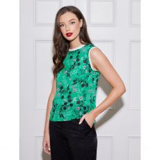 Caroline Kilkenny Molly Green Print Top