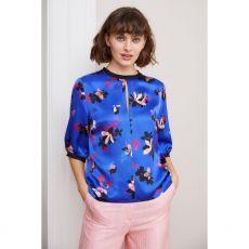 Caroline Kilkenny Nelly Blue Floral Top