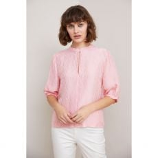 Caroline Kilkenny Nelly Love Print Pink Top