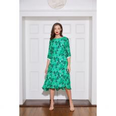 Caroline Kilkenny Tamara Green Print Dress