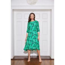 Caroline Kilkenny Tamara Green Print Dress