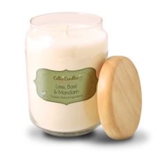 Celtic Candles  Lime Basil & Mandarin Pop Candle