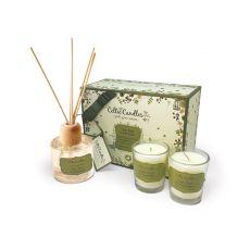 Celtic Candles Lime Basil & Mandarin Gift Set