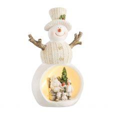 Christmas Scene Snowman LED