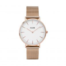 Cluse La Bohème Mesh Rose Gold-White Watch