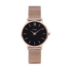 Cluse Minuit Mesh Rose Gold/Black Watch