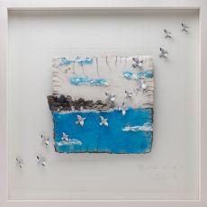 Rebeka Kahn 'The Irish Coast at Sunset' 53cm x 53cm