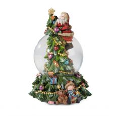 Climbing Santa Musical Snow Globe