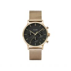 Cluse Aravis Chrono Gold Mesh Black Watch