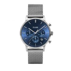 Cluse Aravis Chrono Mesh Blue Dial Watch