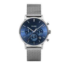 Cluse Aravis Chrono Mesh Blue Dial Watch