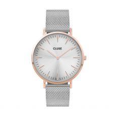 Cluse La Bohème Mesh Rose Gold/Silver Watch