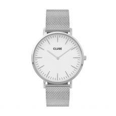Cluse La Bohéme Mesh Silver/White Watch