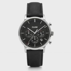 Cluse Mens Aravis Chrono Leather Watch