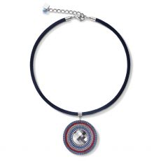 Coeur De Lion Blue/Red Amulet Necklace