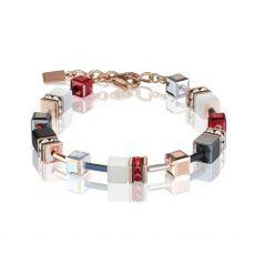 Coeur De Lion Geo Cube Deep Red Bracelet
