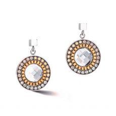 Coeur de Lion Gold Silver Pierced Earrings