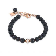 Coeur De Lion Rose Gold Oynx Bracelet