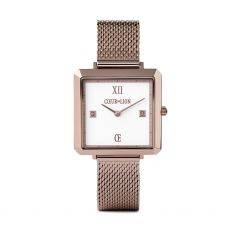 Coeur de Lion Steel Taupe White Watch