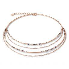 Coeur De Lion Waterfall Rose Gold Necklace