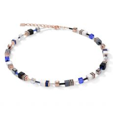 Coeur De Lion Geo Cube Blue Necklace