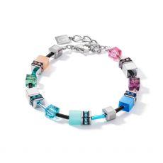 Coeur De Lion Geo Cube Blue/Pink Bracelet