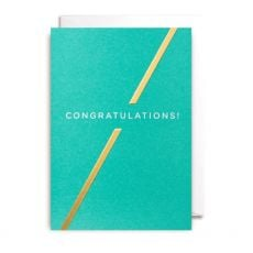 Teal and Gold Congratulations Card